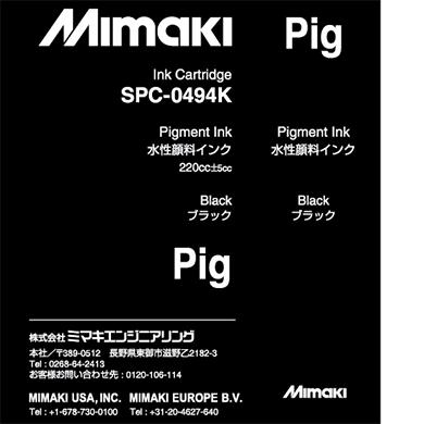 SPC-0494K Water-based pigment ink Black